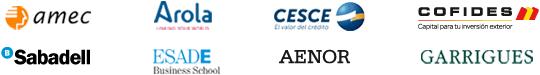 Logos de los colaboradores del programa Exportar para Crecer