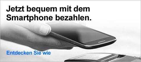 Jetzt bequem mit dem Smartphone bezahlen