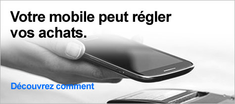 Votre mobile peut régler  vos achats
