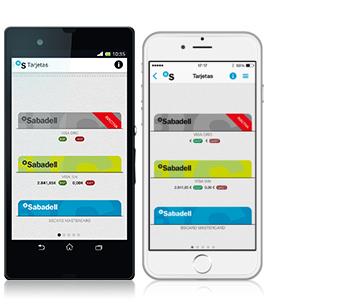 App móvil gestionar cuentas Banc Sabadell